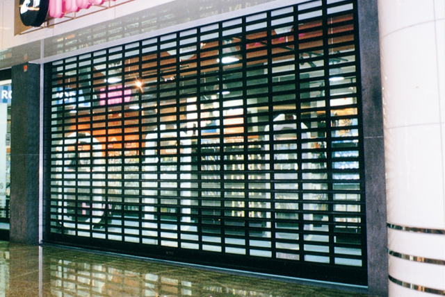 Steel Roller Shutter with Integrated Passdoor